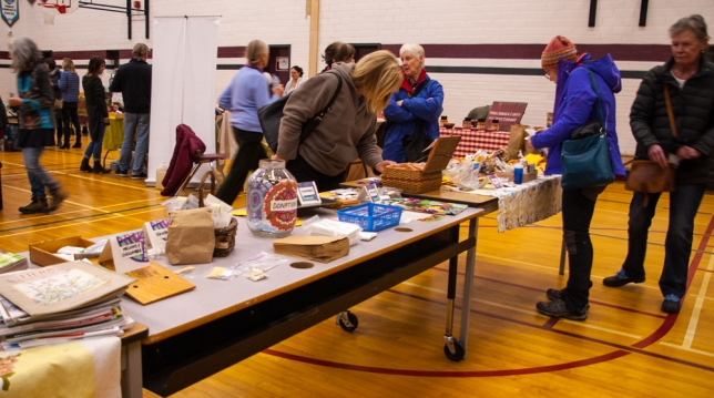 Seed Exchange table at Picton Seedy Saturday - 1006 a.m.