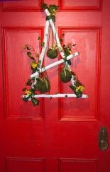 Flower Show 3 birch branch front door