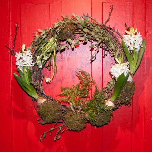 Flower Show 4 Hyacinth wreath front door 1st prize