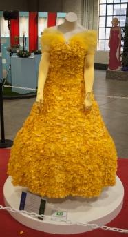 Flower Show 5 yellow flower petal dress