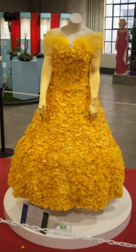 Flower Show 5 yellow flower petal dress